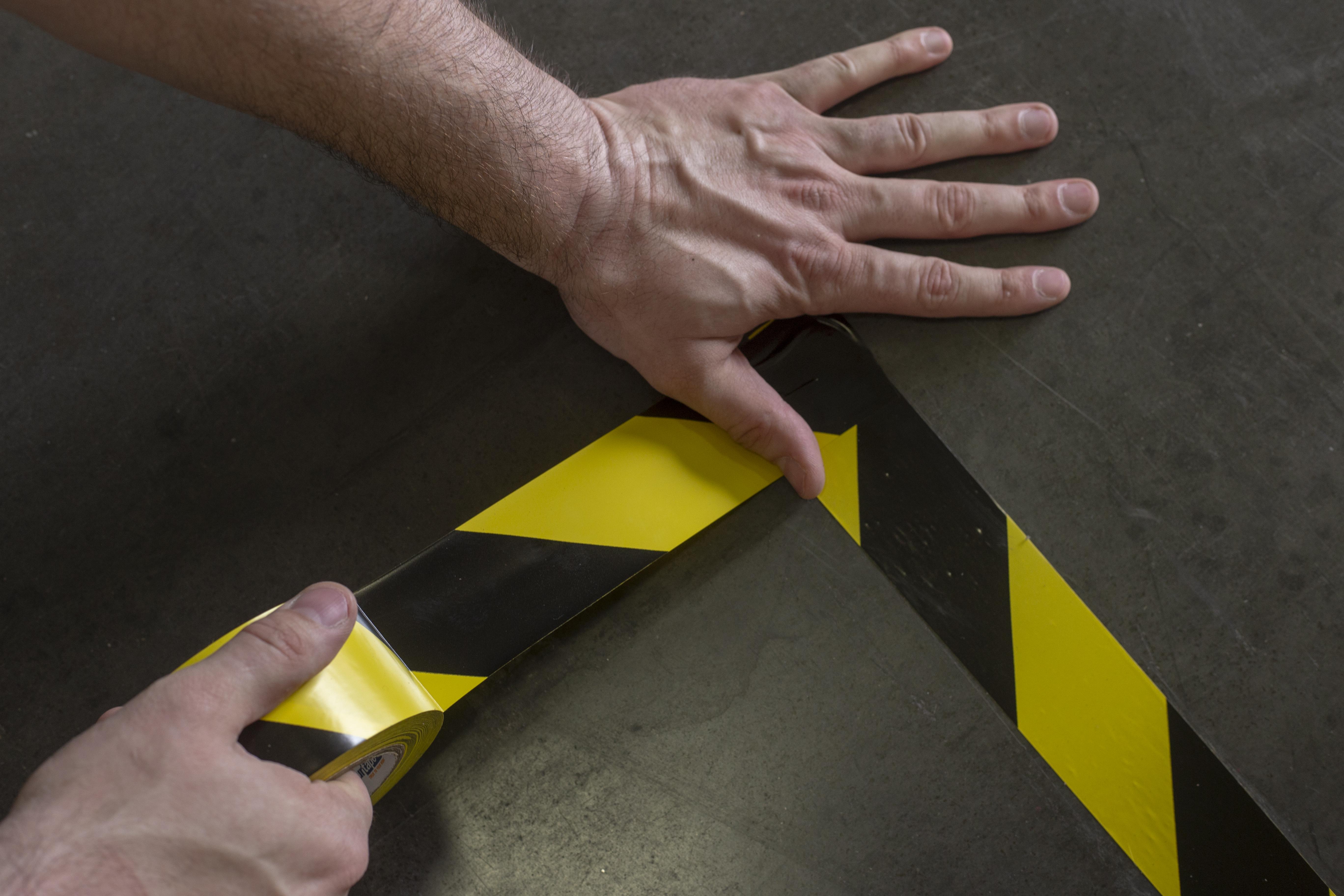 Floor Marking Tape for Social Distancing Lanes 1