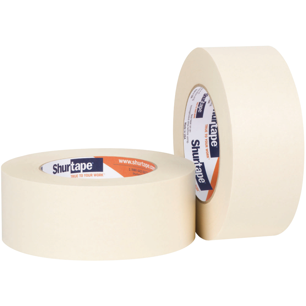 2 x 60 yd Natural Shurtape 199036 CP-650 High Performance Grade Temperature-Resistant Masking Tape
